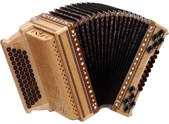 Birke Maser Original Alpengold Harmonika