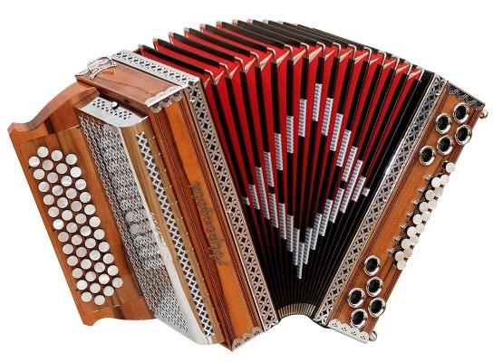 Stubach Klassik White Makassar Alpengold Harmonika